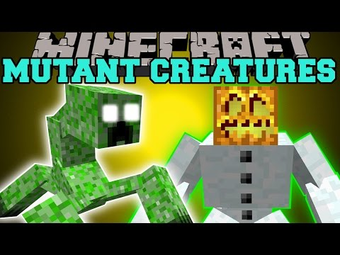 Minecraft: MUTANT CREATURES MOD (MUTANT CREEPER & MUTANT SNOW GOLEM) Mod Showcase