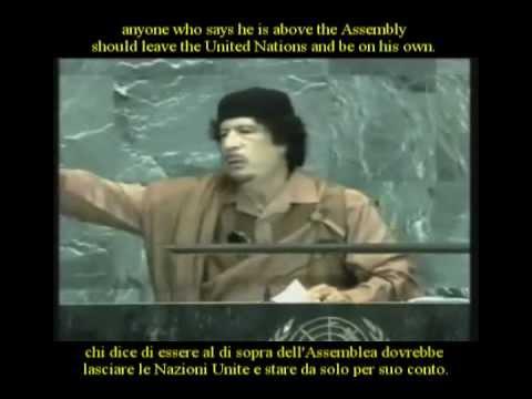 Gaddafi speech UN, 23-09-2009 (English subtitles) - Discorso di Gheddafi ONU (sottotitoli ITA)