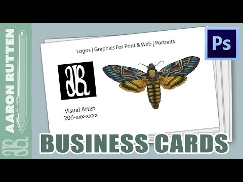 How To Create Business Cards with Photoshop CS6 [1080 HD]