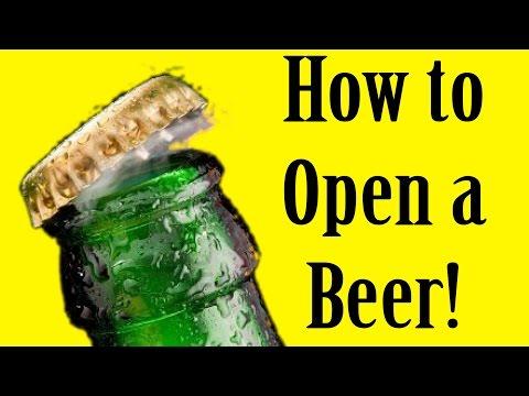 クールにビールのフタを開ける方法