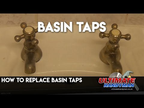 How To Replace Basin Taps Fit Basin Taps Youtube