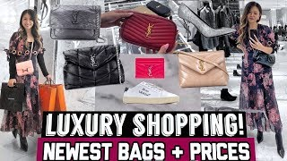 LET'S SHOP AT YSL SAINT LAURENT & HERMES 🛍  | SHOPPING VLOG + PRICES