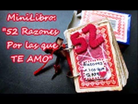 MiniLibro: 52 razones por las que te amo! ((regalo para hombre))