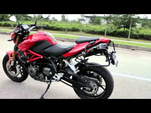 Benelli TNT 600 Akrapovic Exhaust Muffler sound
