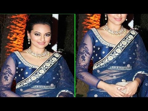 Sonakshi Sinha In Sexy Saree  Ahana Deol's Wedding Reception video