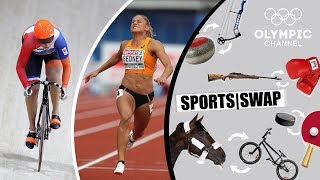 Athletics vs Track Cycling - Can They Switch Sports?  Sports Swap Challenge