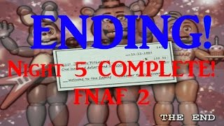 ENDING! Night 5 COMPLETE -Five Nights At Freddy's 2 (Bite of 1987?)
