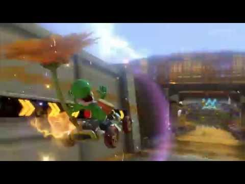 Mario Kart 8 - Barely miss a second Blue Shell dodge, still win!