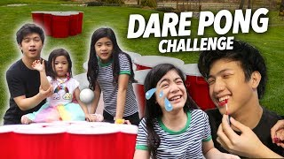 Dare Pong Challenge (Epic Dares!) | Ranz and Niana