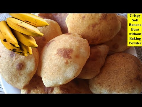Indian Breakfast Recipes - Banana Buns - Maida Recipes Quick Breakfast Ideas नाश्ता