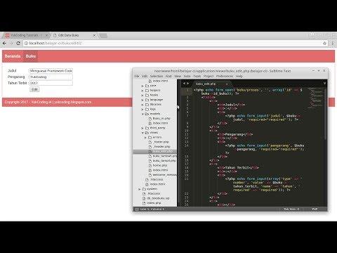 Membuat Edit Data dengan CodeIgniter dan MariaDB (5)