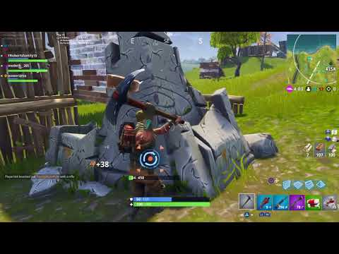 Fortnite who is the noob now 1v1 omega and win the game
