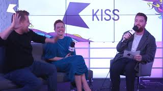 Daisy Ridley & James Corden Talk Pub Fights, Junk Food and Peter Rabbit | Tom On KISS