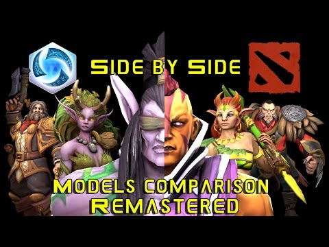 Heroes of the Storm and Dota 2 - Side by Side - models comparison - REMASTERED