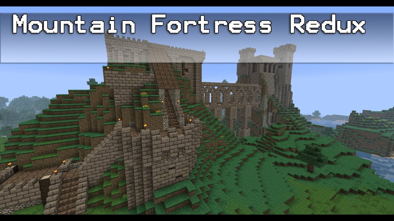 Minecraft mountain fortress redux youtube for How to build a house in a mountain