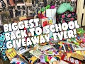 BIGGEST BACK TO SCHOOL GIVEAWAY EVER! 2016