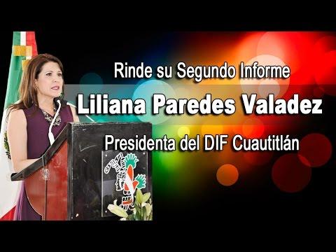 Liliana Paredes presidenta del DIF Cuautitlán rindió su Segundo Informe