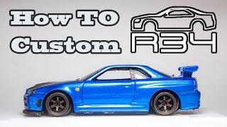 Nissan Skyline R34 GTR Custom Hotwheel How To!!!!