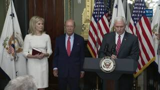 Vice President Pence Participates in a Swearing-In Ceremony for Secretary of Commerce Wilbur Ross