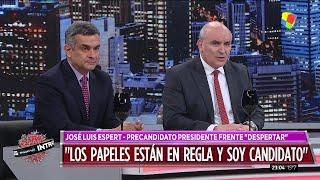 """José Luis Espert y Luis Rosales en """"Intratables"""" con Doman por América el 24 de junio de 2019"""
