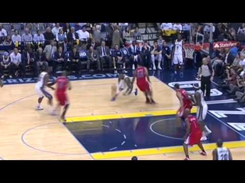 Mike Conley's killer cross over on LA Clippers Matt Barns 4/25/2013