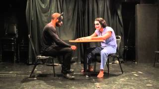 Joker interrogation scene (theatre)