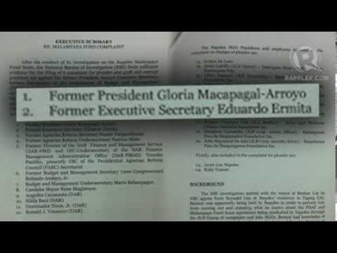 GMA, Napoles face plunder charges over Malampaya fund