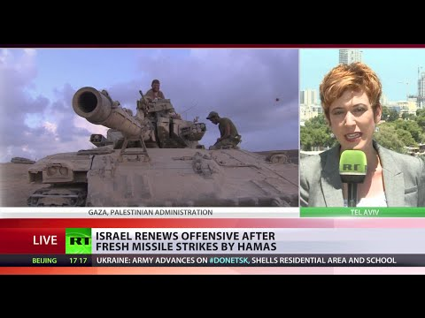 Israel renews Gaza offensive as ceasefire over