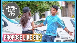 Propose Like SRK  Prank On Cute Girls Ft_ Nandu Sabka Bandu| AKY FILMS |