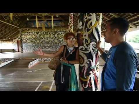 an interview in the Balai Adat 'Adjang Lidem' Setulang - Malinau