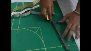 Download Perfect Blouse Cutting With Measurement in English 3Gp Mp4