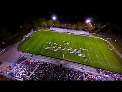 Holt High School Marching Band from a Drone Viewpoint
