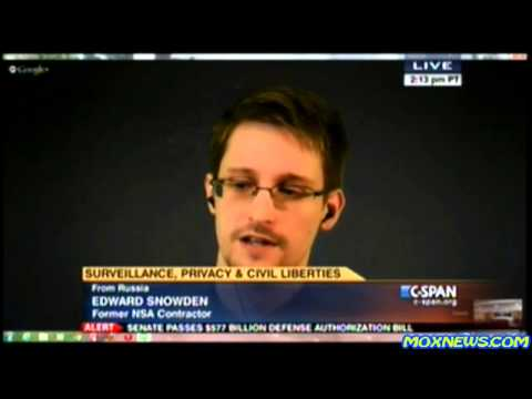 "Edward Snowden ""We've Seen U.N. Reports Say Mass Surveillance Is NOT Permissible!"""