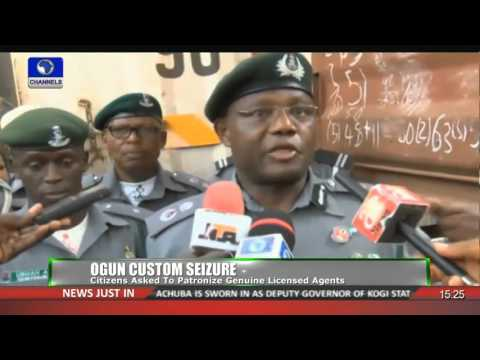 News Across Nigeria Ogun Custom Impounds 6 Trucks, Arrests 5 Foreigners