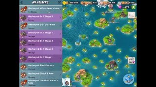Boom Beach — daily raid with RMZ on boosted ice central bases