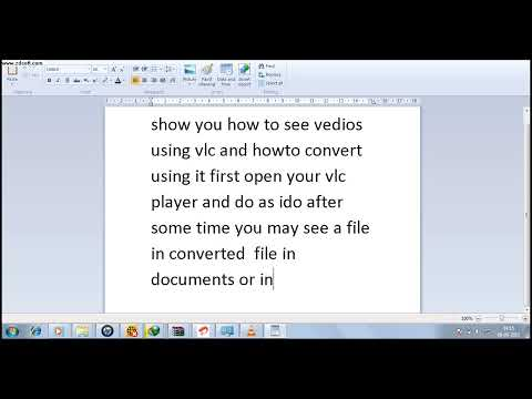 HOW TO CONVERT VEDIOS USING VLC MEDIA PLAYER