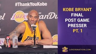 Kobe Bryant After Final Game: Press Interview (PT. 1)
