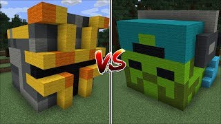 Minecraft MC NAVEED HOUSE VS MARK THE FRIENDLY ZOMBIE HOUSE MOD / BUILD BATTLE !! Minecraft Mods