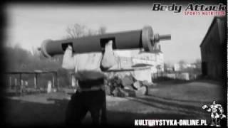Trening Marcina KUKAJ Sendwickiego na sprzęcie strongman