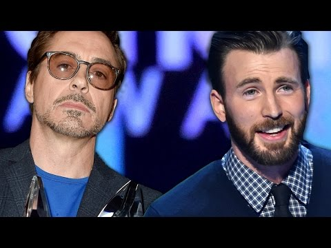 Robert Downey Jr and Chris Evans Win at People's Choice Awards 2015