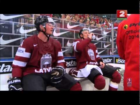 Беларусь - Латвия: 3:1. Грубейшая игра Латвии во втором периоде.