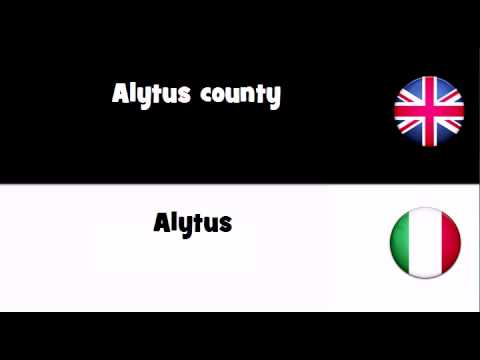 Header of Alytus County
