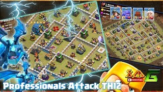 Clash of Clans⭐OMG!! Professionals Attack 3-Star TH12⭐Ground & Air