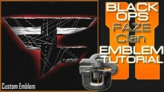 FaZe Clan Logo EPIC : Call of Duty Black Ops 2 Emblem Tutorial