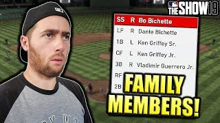 FAMILY MEMBERS TEAM BUILD! MLB THE SHOW 19 DIAMOND DYNASTY