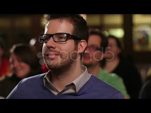 Caucasian Man Sitting In A Pew At Church. Stock Footage