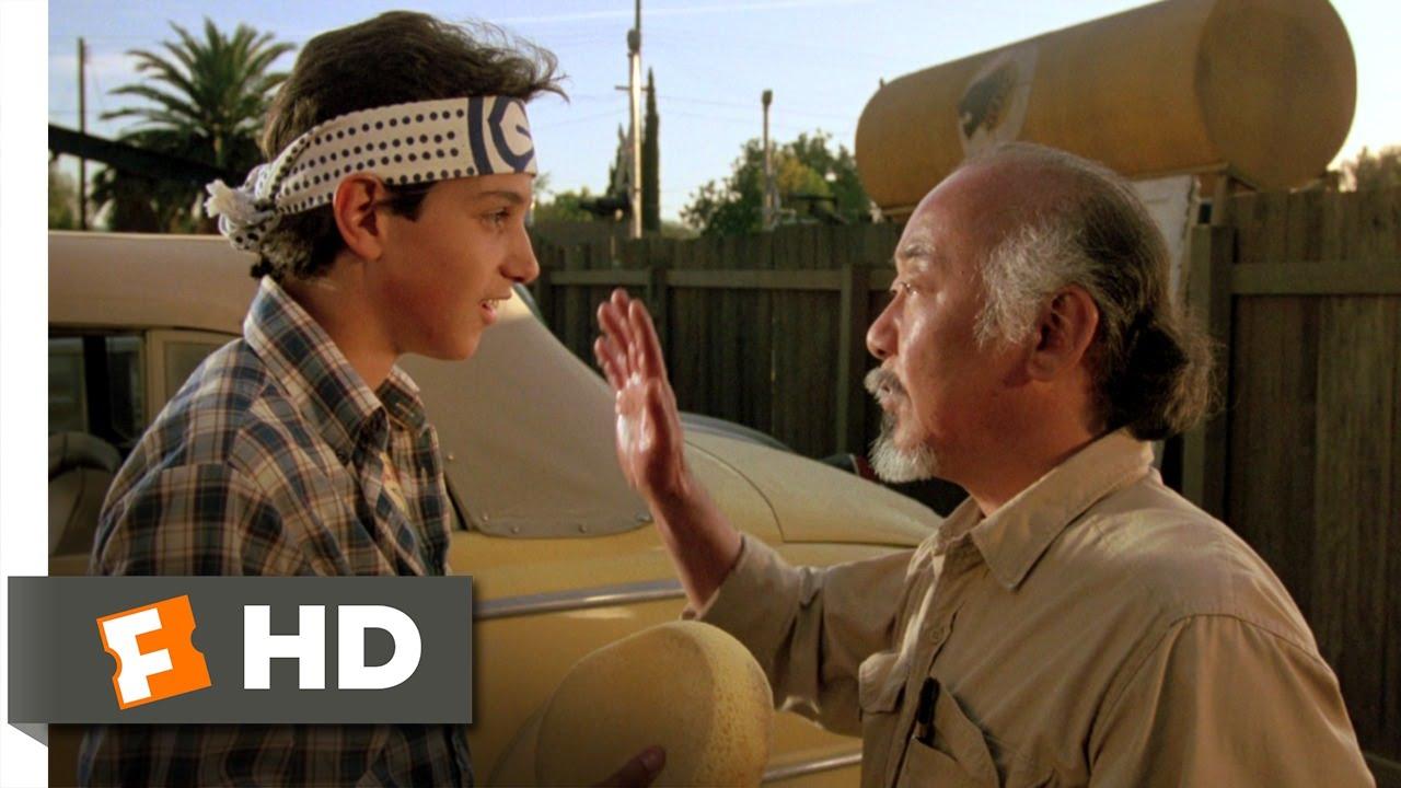 Karate Kid Wax On Wax Off Clip