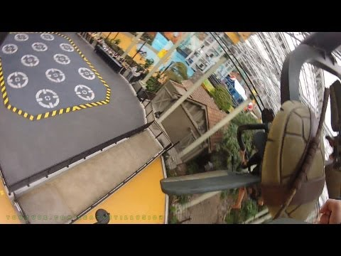 Teenage Muntant Ninja Turtles Shell Shock On-ride (HD POV) Nickelodeon Universe