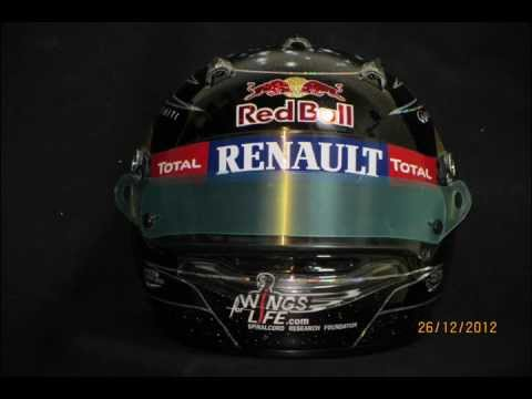 Sebastian Vettel replica Flashing F1 helmet.wmv
