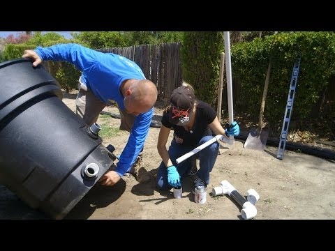 DIY Koi Pond Construction   Waterfall Filter Plumbing - Part 2